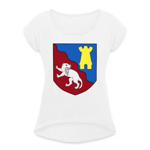 lygarn wappen - Frauen T-Shirt mit gerollten Ärmeln