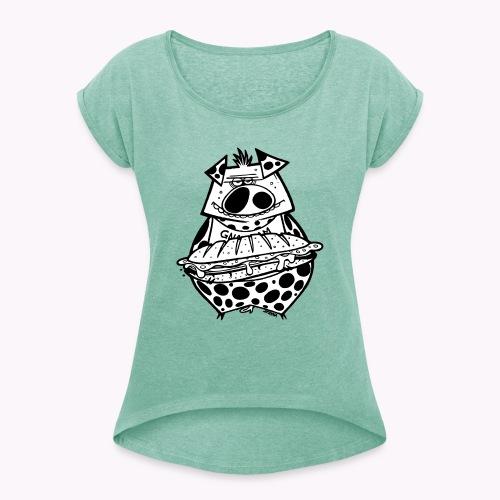 pig vs pig - Maglietta da donna con risvolti
