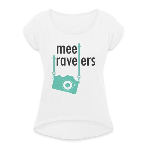 meet-travelers - T-shirt à manches retroussées Femme