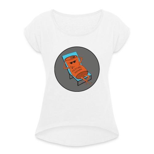 Festivalpodden - Loggan - T-shirt med upprullade ärmar dam