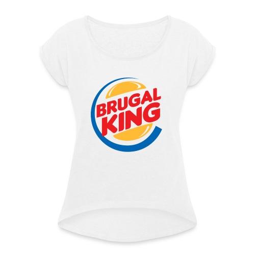 Brugal King - Camiseta con manga enrollada mujer