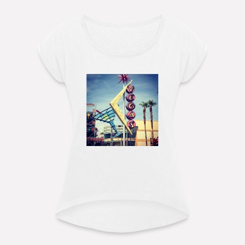 Viva Las Vegas! - Women's T-Shirt with rolled up sleeves