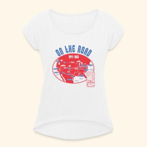 TShirtOntheRoad copy - Camiseta con manga enrollada mujer