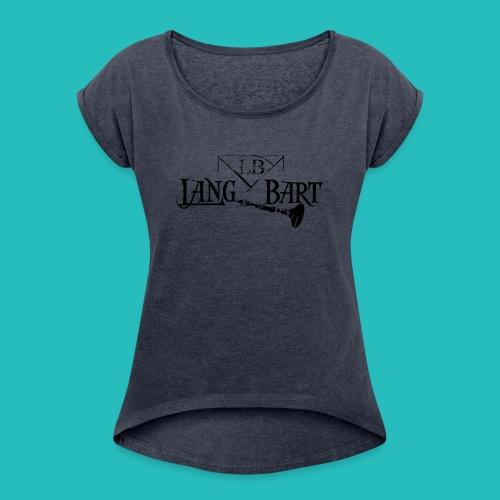 Logo-BN - Maglietta da donna con risvolti