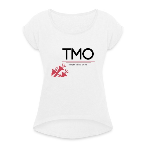 TMO Logo - Women's T-Shirt with rolled up sleeves