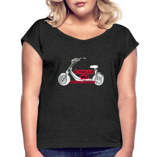 Neorider Scooter Club - T-shirt à manches retroussées Femme