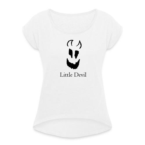 Little Devil - Frauen T-Shirt mit gerollten Ärmeln