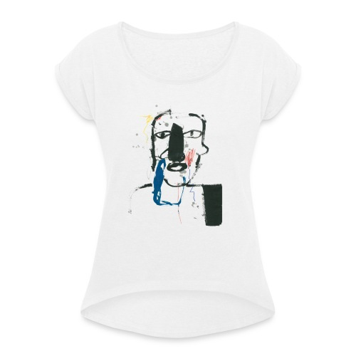 Portrait 06 - Women's T-Shirt with rolled up sleeves