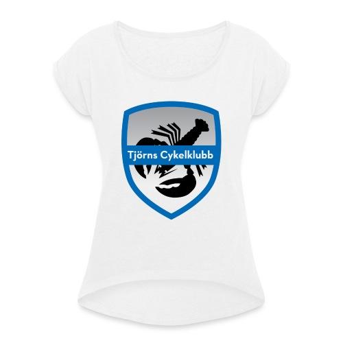 tjornscykelklubb-logga - T-shirt med upprullade ärmar dam