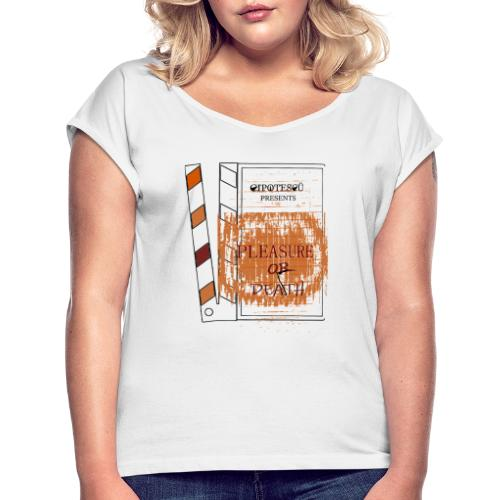Pleasure Cipotescü - Camiseta con manga enrollada mujer