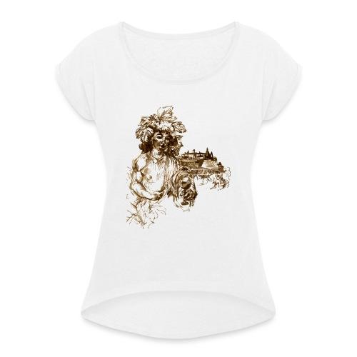 Bacchus 010 - Frauen T-Shirt mit gerollten Ärmeln
