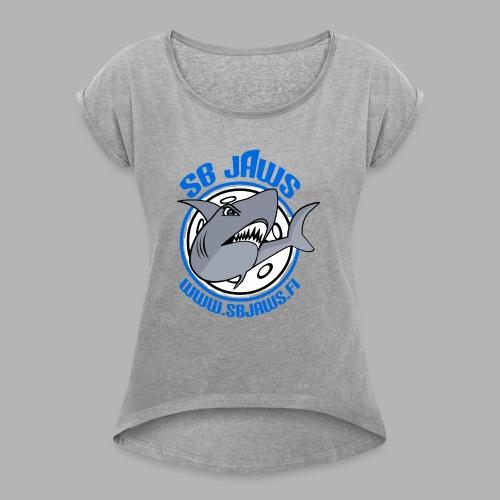 SB JAWS - Naisten T-paita, jossa rullatut hihat