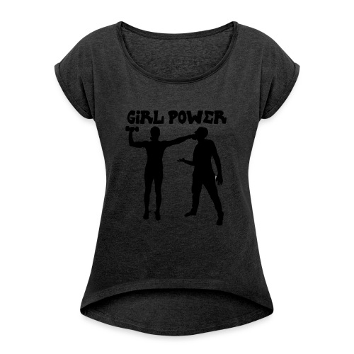 GIRL POWER hits - Camiseta con manga enrollada mujer