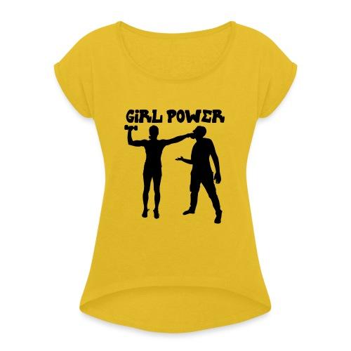 GIRL POWER hits - Camiseta con manga enrollada mujer