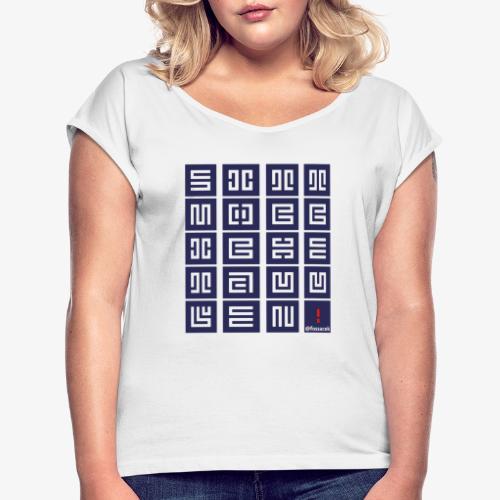 SittMocciche - Maglietta da donna con risvolti