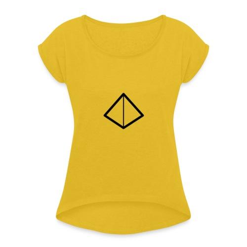 Naamloos-1-png - Vrouwen T-shirt met opgerolde mouwen