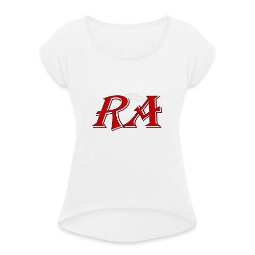 Drinkbeker RA4004 - Vrouwen T-shirt met opgerolde mouwen