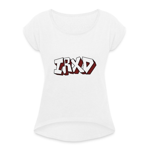 t-shirt voor vrouwen met lange mouwen - Vrouwen T-shirt met opgerolde mouwen