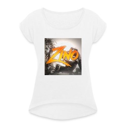 InfinityZino Snapback! - Vrouwen T-shirt met opgerolde mouwen