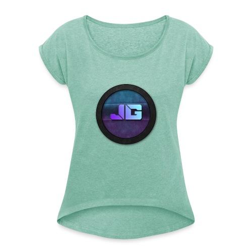 telefoon hoesje apple 5/5S - Vrouwen T-shirt met opgerolde mouwen