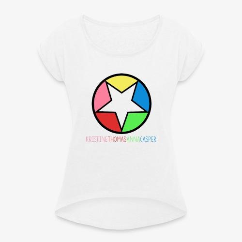 T-Skjorte Menn - T-skjorte med rulleermer for kvinner