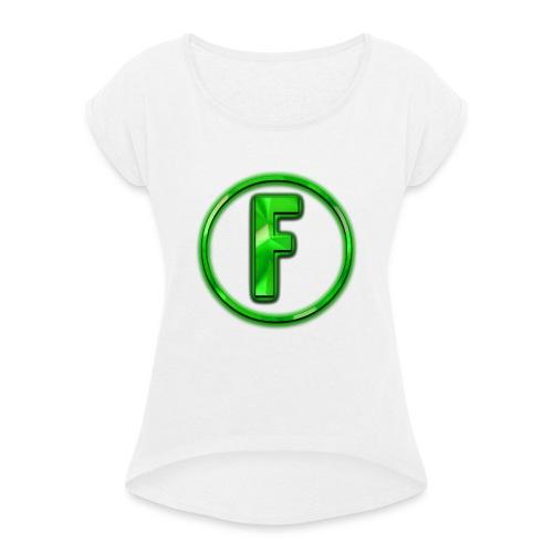 FLONIC'S MERCH!!! Mit echtem Flonic Logo!!! - Frauen T-Shirt mit gerollten Ärmeln