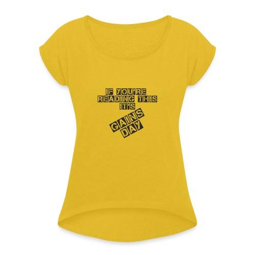 gainsday - Dame T-shirt med rulleærmer