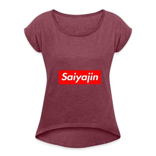 saiyajin - T-shirt à manches retroussées Femme