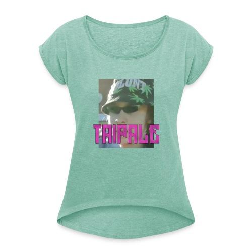 Rare Taipale - Naisten T-paita, jossa rullatut hihat