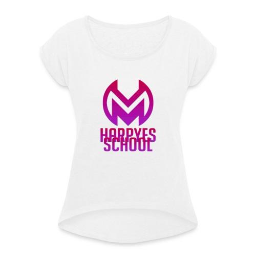 LOGO + TEXTE Harpyes GLOW - T-shirt à manches retroussées Femme