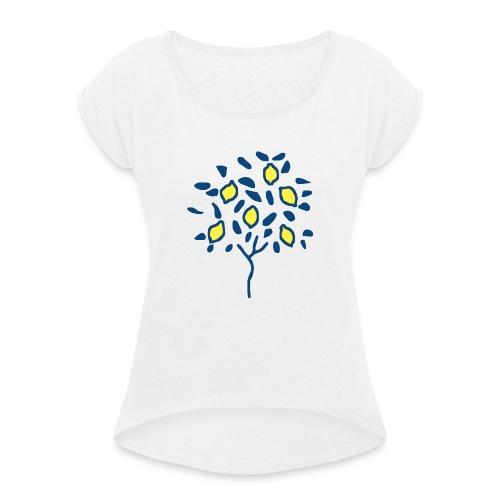 Citron - T-shirt à manches retroussées Femme