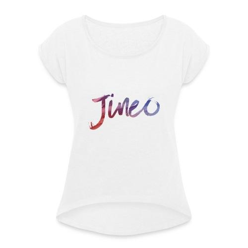 Logo Jineo - T-shirt à manches retroussées Femme