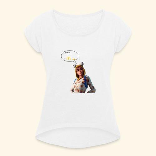 Mcdo - T-shirt à manches retroussées Femme