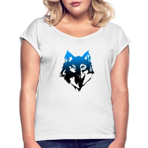 Hampan kläder wolf - T-shirt med upprullade ärmar dam