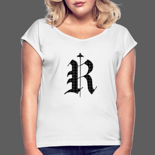 Old P - Frauen T-Shirt mit gerollten Ärmeln