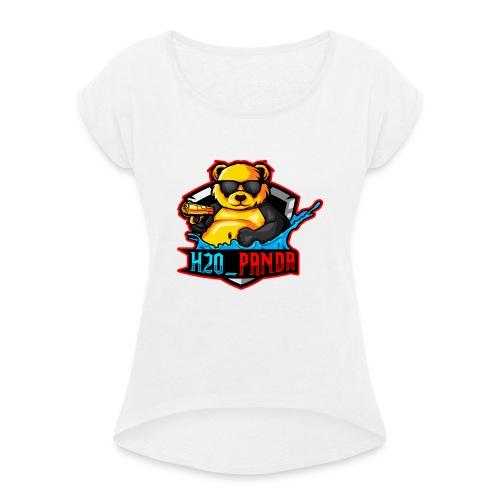 Pandas Loga - T-shirt med upprullade ärmar dam