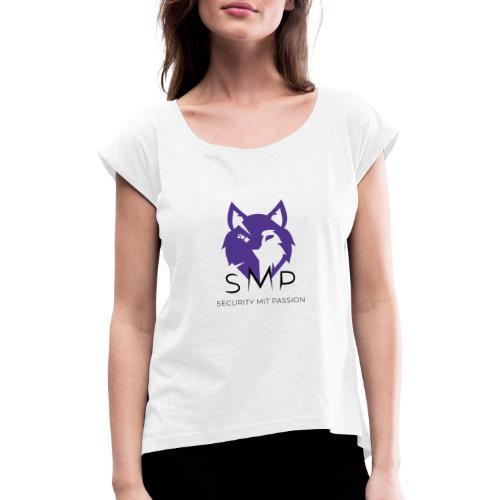 SMP Wolves Merchandise - Frauen T-Shirt mit gerollten Ärmeln