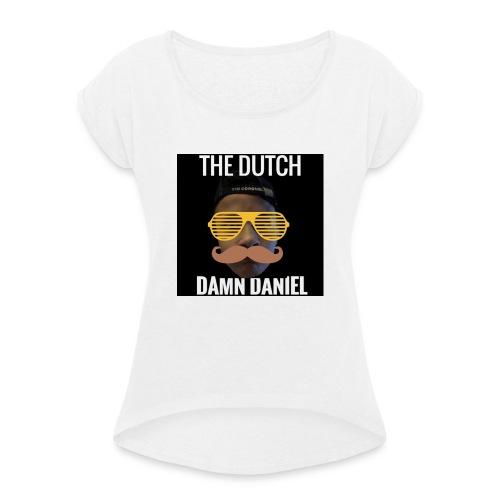 SHIRTS - Vrouwen T-shirt met opgerolde mouwen