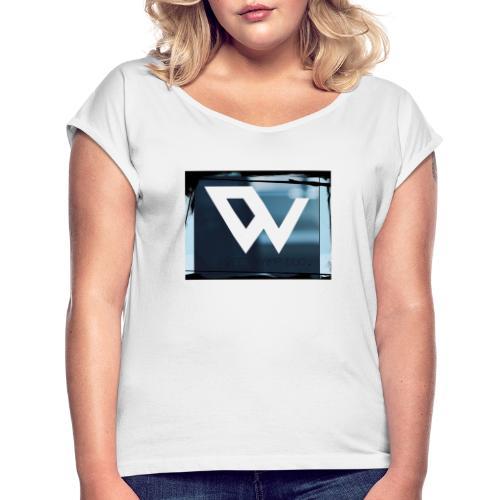 C3B1775B 6BE4 4476 98C6 767EEAAEFFC5 - Vrouwen T-shirt met opgerolde mouwen