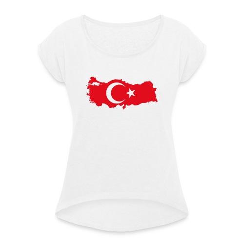 Türkei - Frauen T-Shirt mit gerollten Ärmeln