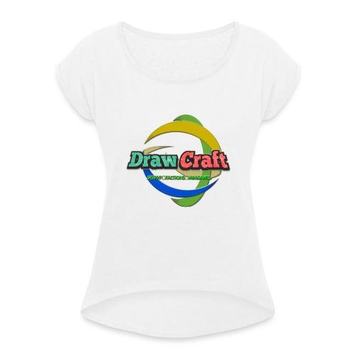 T-Shirt DrawCraft - Maglietta da donna con risvolti