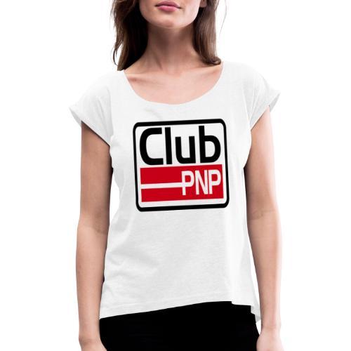 Label-Logo - Frauen T-Shirt mit gerollten Ärmeln