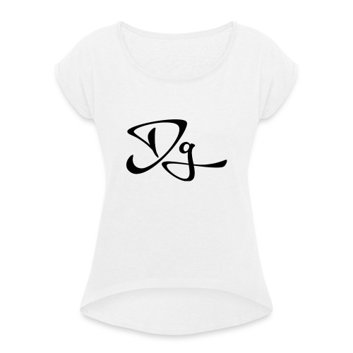 Dg tröja - T-shirt med upprullade ärmar dam