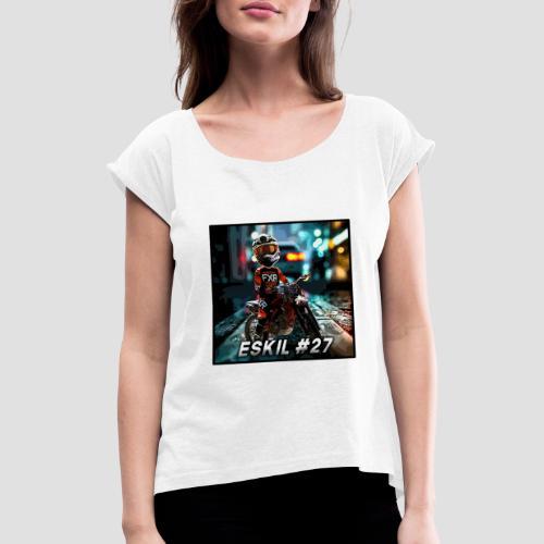 Eskil street cartoon - T-shirt med upprullade ärmar dam
