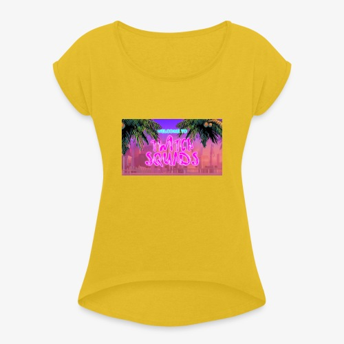 Welcome To Twitch Squads - Women's T-Shirt with rolled up sleeves