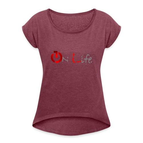 OnLife Logo - T-shirt à manches retroussées Femme