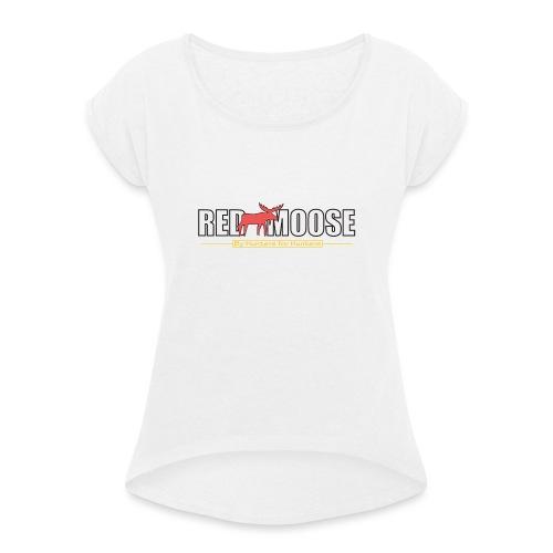 Red Moose logo - T-shirt med upprullade ärmar dam