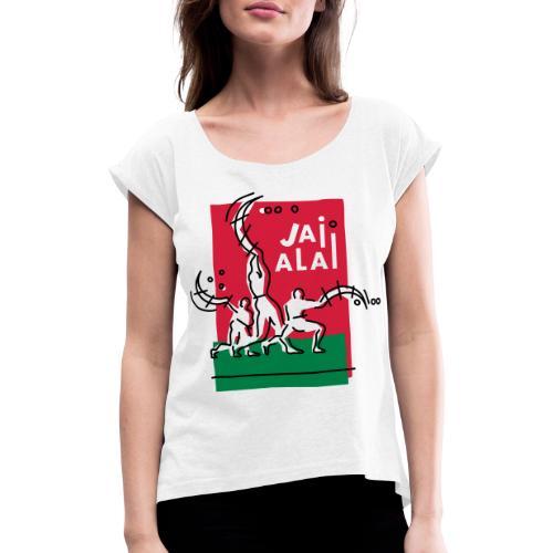 Pelotaris Jai Alai   Cesta Punta Pelota - Camiseta con manga enrollada mujer