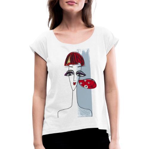 Ragazza con orecchino - Maglietta da donna con risvolti