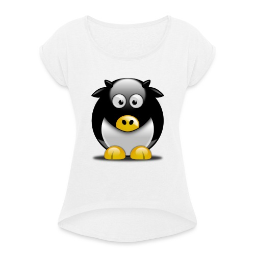 Mascotte MayLUG - T-shirt à manches retroussées Femme